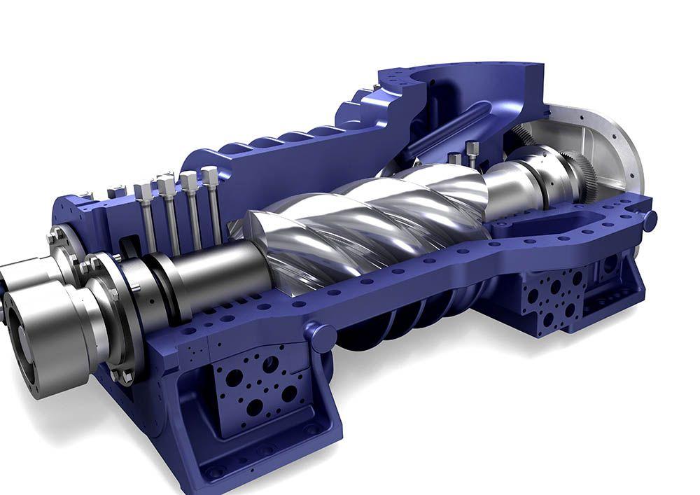 Como funciona un Compresor de Tornillo Industrial